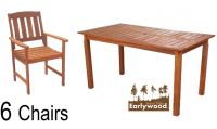 Earlywood™ 6 Seater Kendal and Richmond Dining Set