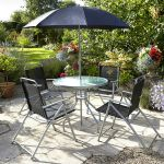 Mesh & Steel 4 Seater Dining Set