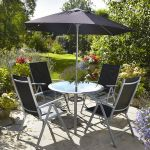 Mesh & Aluminium 4 Seater Dining Set