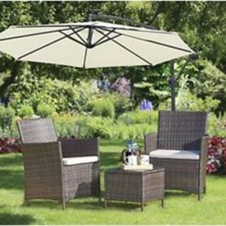3 Piece Garden Seating Set - Coffee