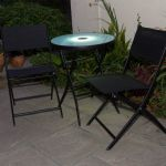 Illuminated Black Bistro Set