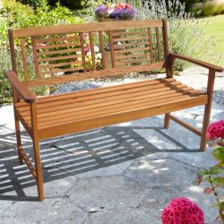 2 Seater Wooden Bench - 1.58m