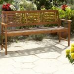 3 Seater Wooden Bench 1.28cm