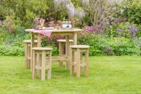 Bahama Oval Table & 4 Stool Set by Zest4Leisure