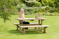 Madison Table and Bench Set by Zest4Leisure