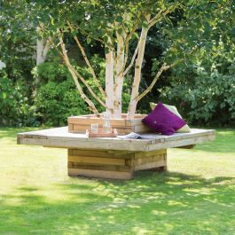 1.59m (5ft 2in) Lucy Square Tree Bench FSC® by Zest 4 Leisure®