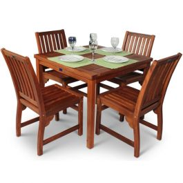 Hardwood 4 Seater Devon Dining Set