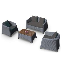 Rattan Sofa Set Dark Grey
