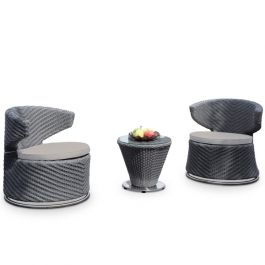 Swivel Dining Set - Light Grey