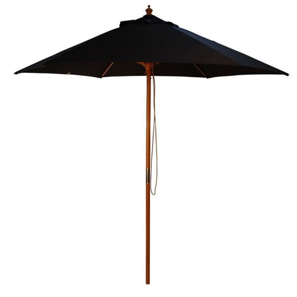 Parasol Wood Pulley 2.5m Black