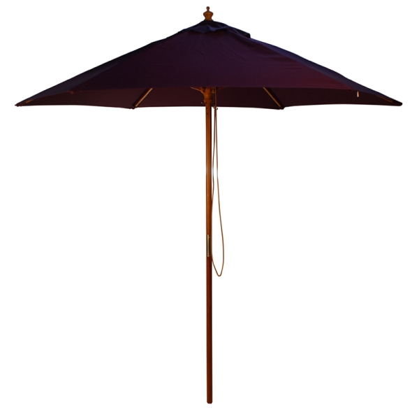 Parasol Wood Pulley 2.5m Purple