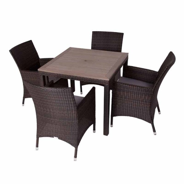 Rattan Alonso Dining Set (Polywood)