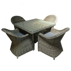 Regent 4 Seat Set with 1m Square Table