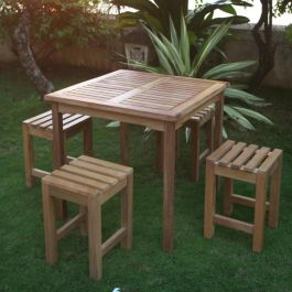 Teak Low Stool Warwick Table Set