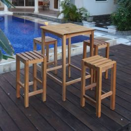 Teak High Stool Warwick Table Set