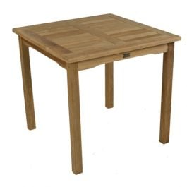 Teak Square Bistro Table 80 cms