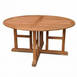 The Madison Round Teak Table