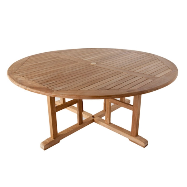 The Stamford Round Teak Table 180cm