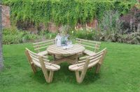 Circular Picnic Table with Seat Backs