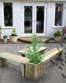 Double Sleeper Bench End Planter