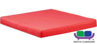 L51.5cm x W47cm Cushion in Red by Kotch - 5cm Thick