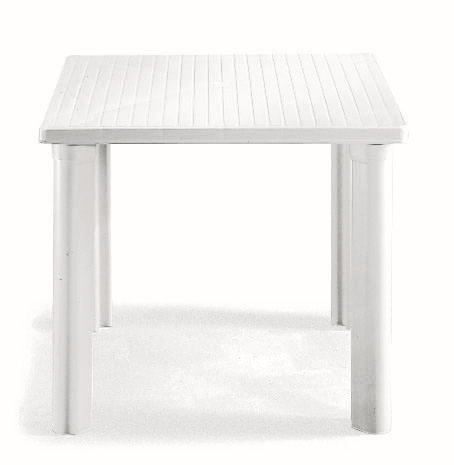 SCAB Four Seater Elle Resin Dining Set in White