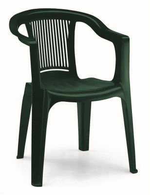 SCAB Four Seater Elle Resin Dining Set in Forest Green