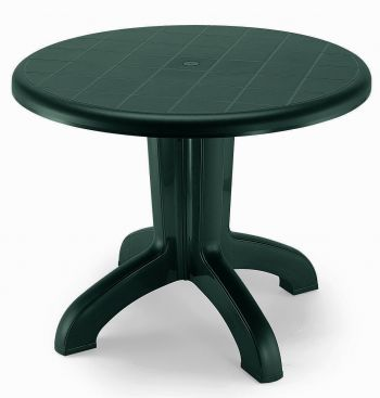 SCAB Four Seater Daytona Round Dining Set in Forest Green