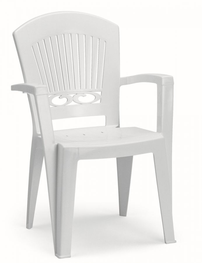 SCAB Eight Seater President Dining Set 3m x 0.95m in White with Tile Deco