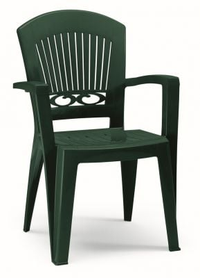 SCAB Eight Seater President Dining Set 3m x 0.95m in Forest Green with Mosaic Deco