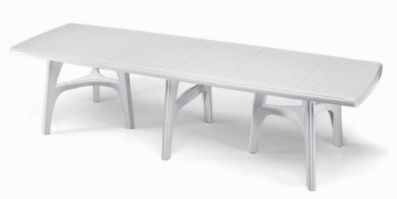 SCAB Ten Seater President Dining Set with Extension in White