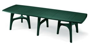 SCAB Ten Seater President Dining Set with Extension in Forest Green