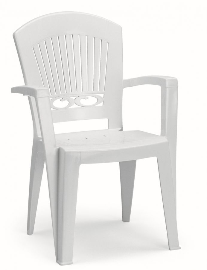 SCAB Ten Seater President Dining Set with Extension in White with Tile Deco