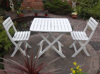 2 Seater Tropea White Resin Bistro Set