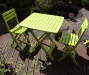 2 Seater Tropea Lime Green Resin Bistro Set