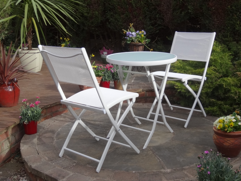 Calvia Bistro Set White