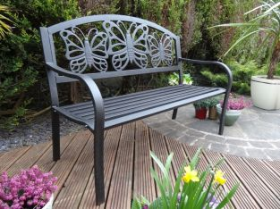 Butterfly Steel Bench