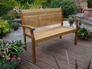 Hardwood Kent 2 Seat Stacking Bench