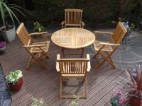 Hardwood Stanford Folding Table Set