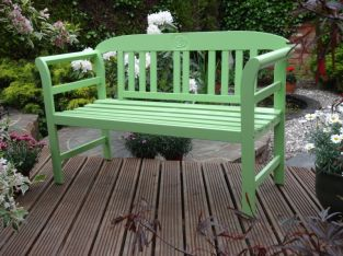 Kent Green Painted Bench 120Cm