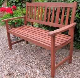 Hardwood London Bench 120Cm