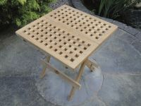 Teak Square Chess Table 50X50Cm