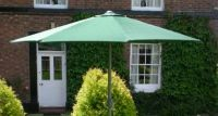 Aluminium Parasol 2.7M 8 Rib Ratch Green