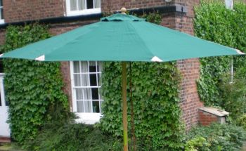 Deluxe New Round Parasol Green 2.7M