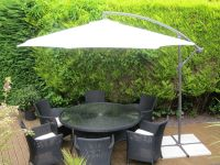 Aluminium Side Elevating Parasol Cream 3M