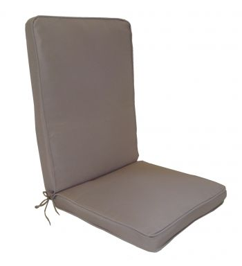 Taupe Luxury Seat Cushion/Pad With Back Cushion Bespoke Range