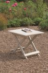 Raffles Acacia Folding Table White