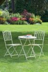 Versailles Steel Garden Bistro Set Cream