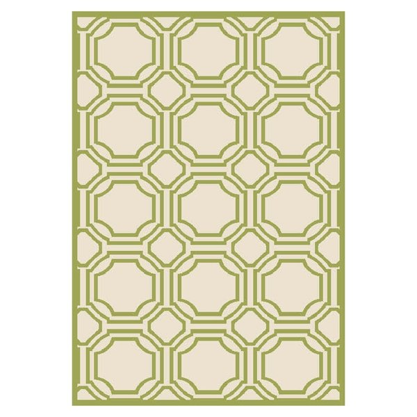 Ferrat Outdoor Rug Ivory / Light Green (121 X 182 cm)