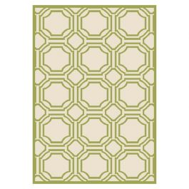 Ferrat Outdoor Rug Ivory / Light Green (91 X 152 cm)